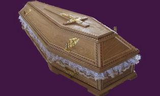 Элитный гроб (светлое дерево)