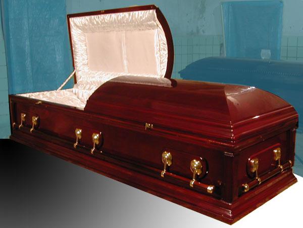 Элитный гроб (темно-коричневый)