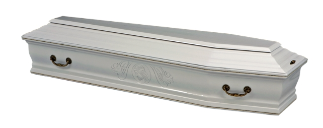 Элитный гроб (белый)